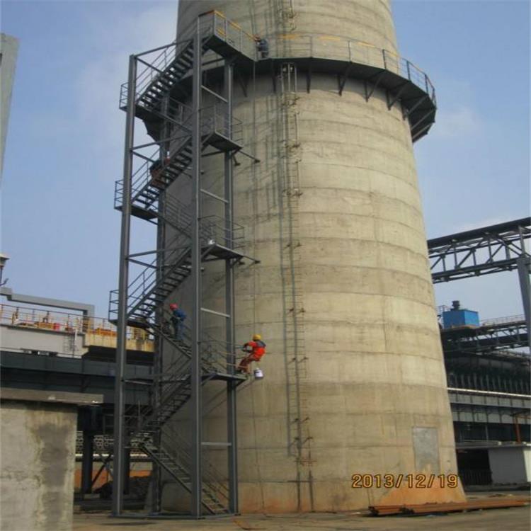 烟囱螺旋爬梯平台安装/烟囱螺旋梯制作安装专业公司