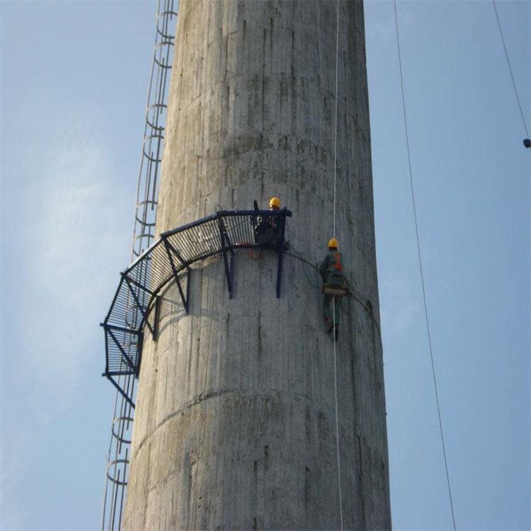 45米砖烟囱裂缝维修加高/60米烟囱拆除加高施工方案