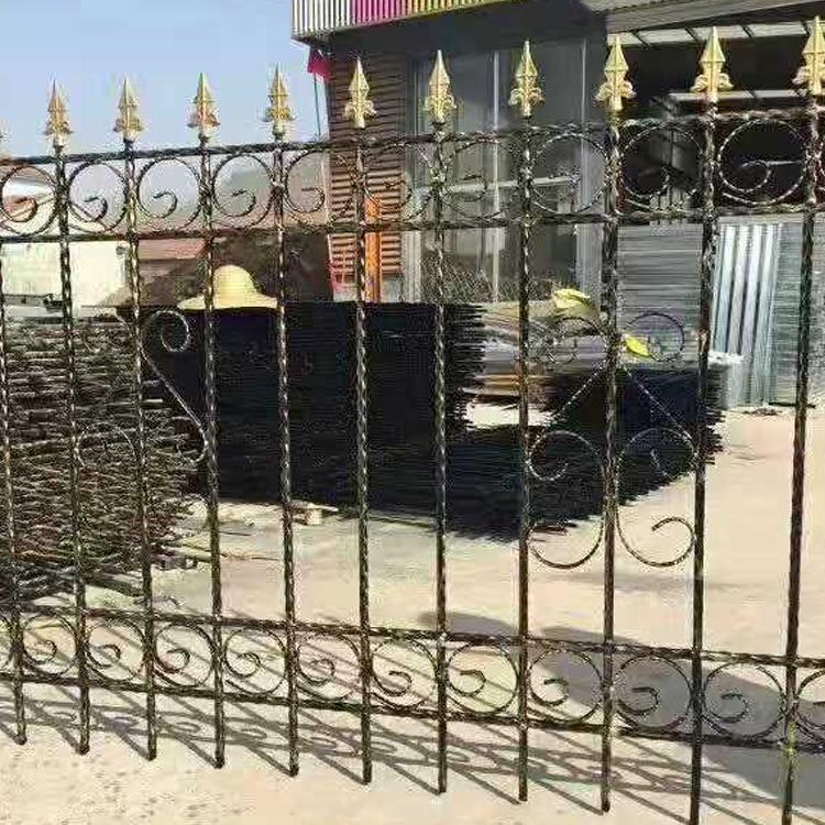 普淋金属可定制铁艺护栏 院墙铁艺护栏