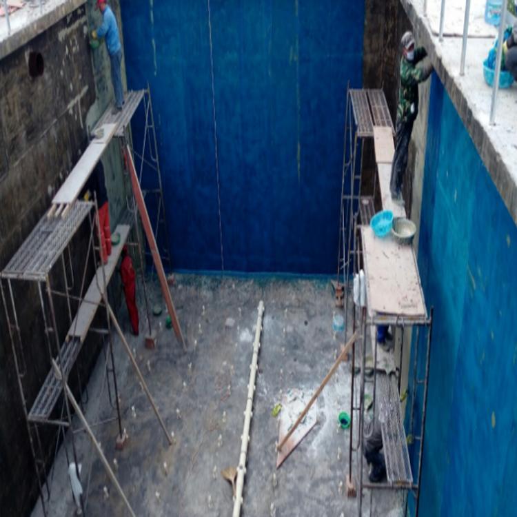 玻璃钢衬里 脱硫塔 水泥池衬里施工 酸碱池环氧防腐-河北世鑫