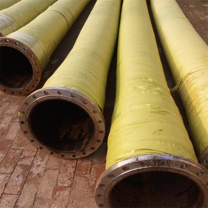 弘创DN150 200 250大口径法兰喷煤胶管 输送煤灰耐磨钢丝胶管 水泥厂专用喷煤胶管