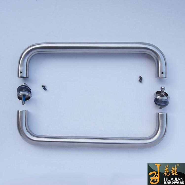 畅销花键五金玻璃大门不锈钢拉手联锁商铺工程O型玻璃门把手44B酒店工程淋浴房拉手