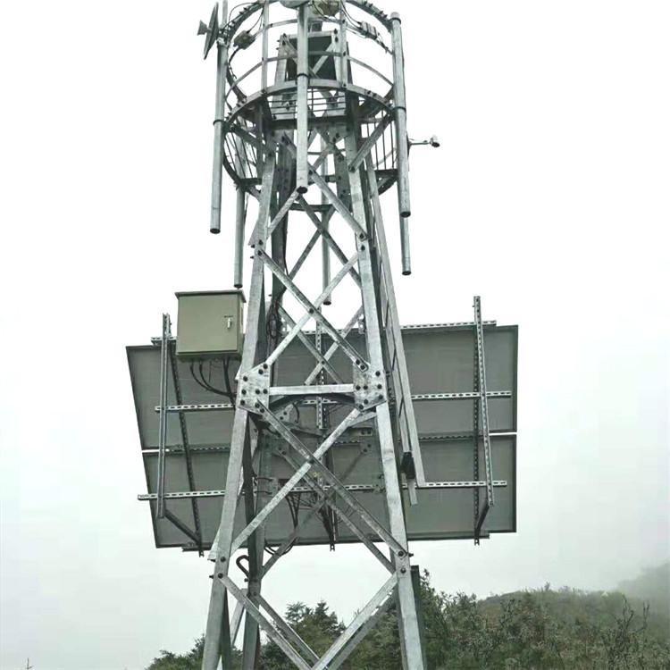 景区安防检测塔 森林角钢监控塔 视频监控塔 鸿发供应