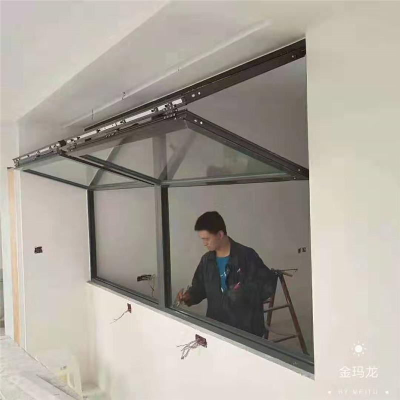 佛山上下折叠窗 佛山定做上下折叠窗 酒店外卖窗口专用窗
