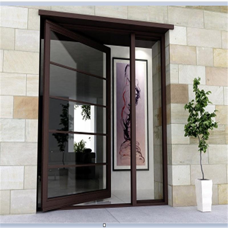 现代设计铝合金框玻璃旋转门 大堂入口枢轴门 欧标商业门