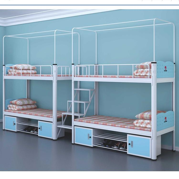双人床供应厂家 匠百盛学生双人床厂家 单层双人床厂家供应