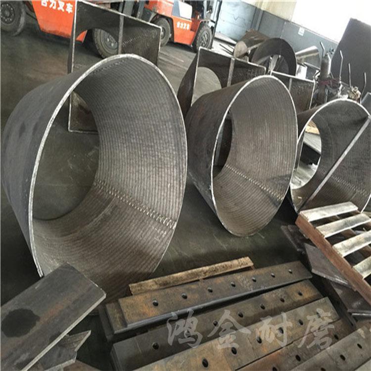 鸿金10+8堆焊耐磨钢板 高铬合金衬板 堆焊耐磨钢板生产厂家
