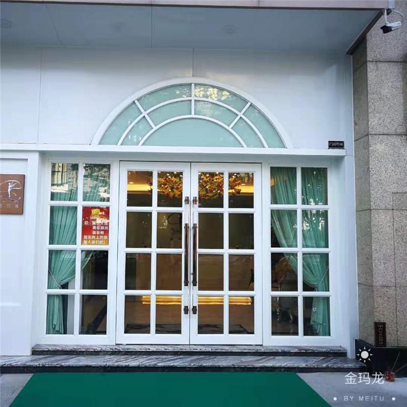 金玛龙商务门 铝合金门 店铺门 酒店大门价格 焊接美观大气
