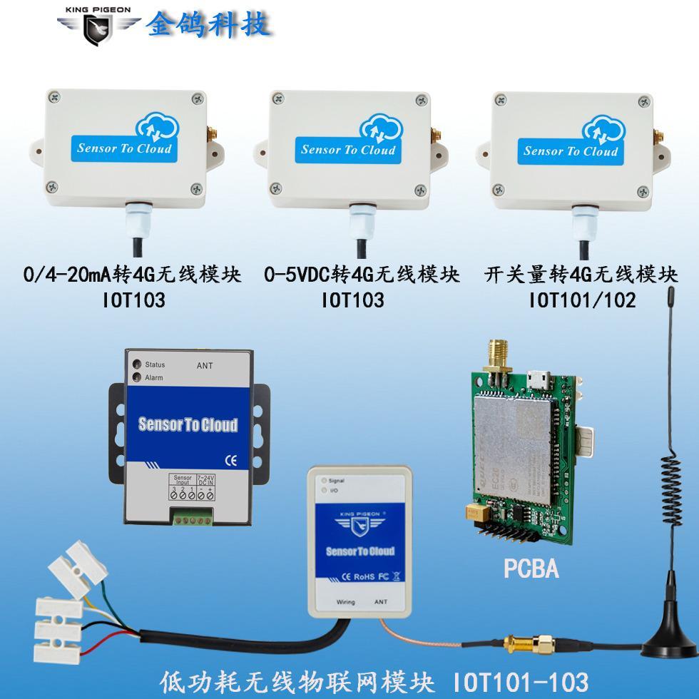 酒店烟雾报警+远程控制+开关量转物联网模块金鸽IoT101