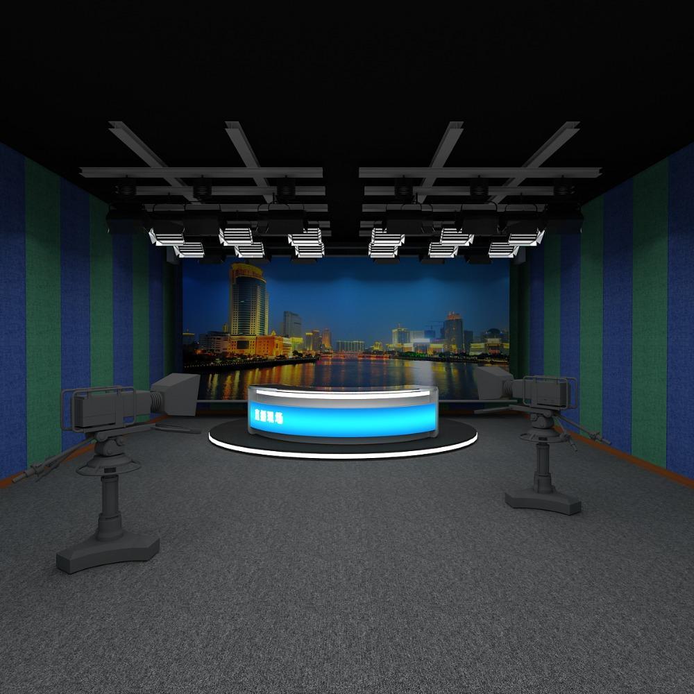 虚拟超高清演播室建设 校园电视台导播直播间装修