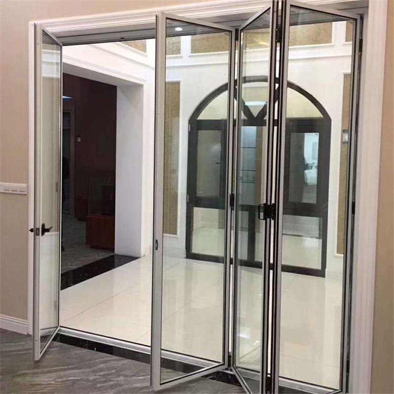 16极窄折叠门 窄边铝合金折叠门 厂家直销别墅洋房极窄风隔断 设计师爆款