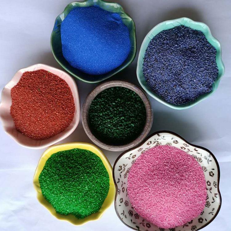 外墙适用的珍珠漆彩砂 现货直销 外墙真石漆彩砂 价格优惠