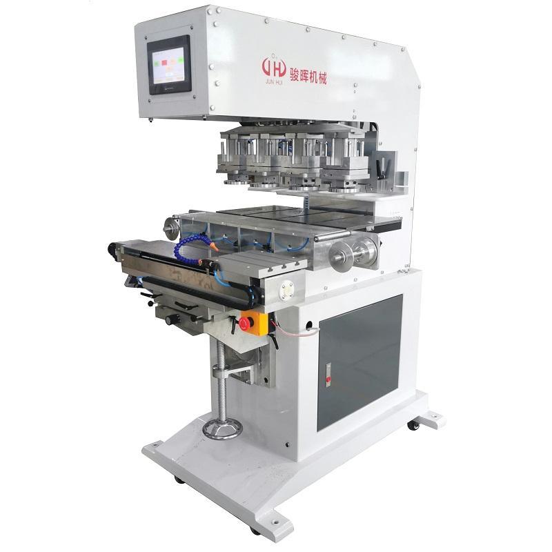 空调商标LOGO移印机 骏晖印刷设备 伺服穿梭独立印头四色移印机 制造企业