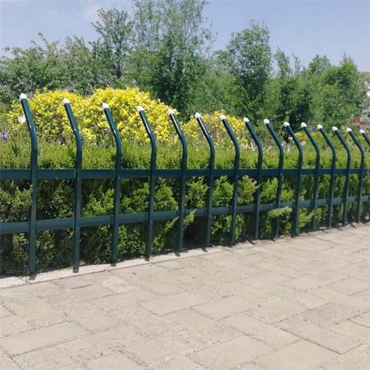 折弯草坪护栏 园艺护栏 锌钢围墙栅栏 绿化带围栏