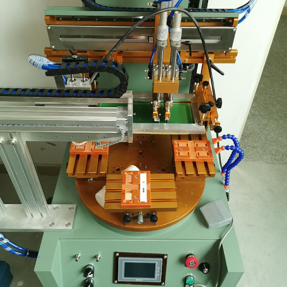 试剂盒丝印机-耳温枪镜片亚克力玻璃丝网印刷机-平面丝印机厂家