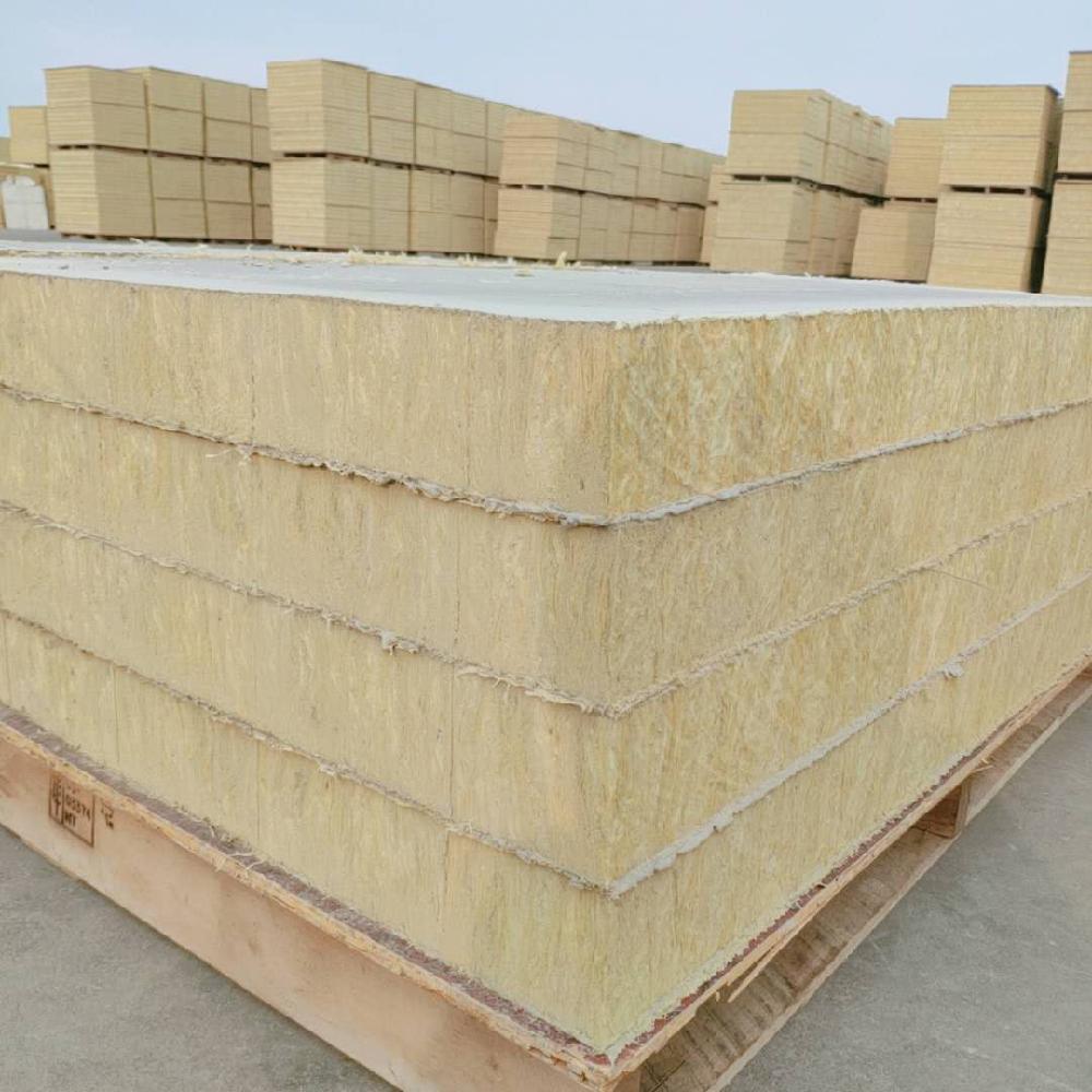 中盛龙矿棉岩棉板屋面岩棉复合板厂家海量库存