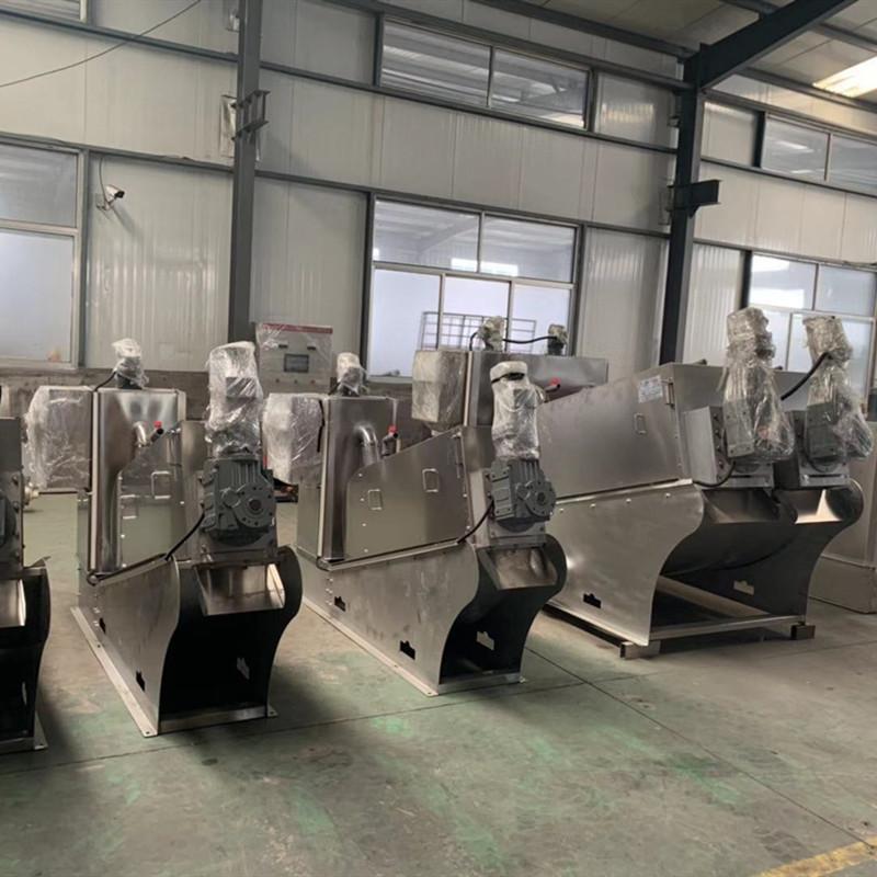 厂家直销 污水浓缩一体机 叠螺式污泥脱水机 污泥脱水机 可移动式设备 罗勒环保