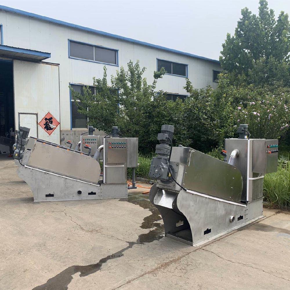叠螺式污泥脱水机 市政污泥压滤机 脱水机 罗勒环保