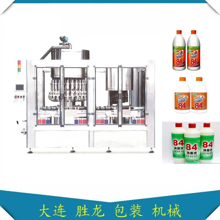 消毒液灌装机-84消毒液灌装封盖两联机-胜龙机械