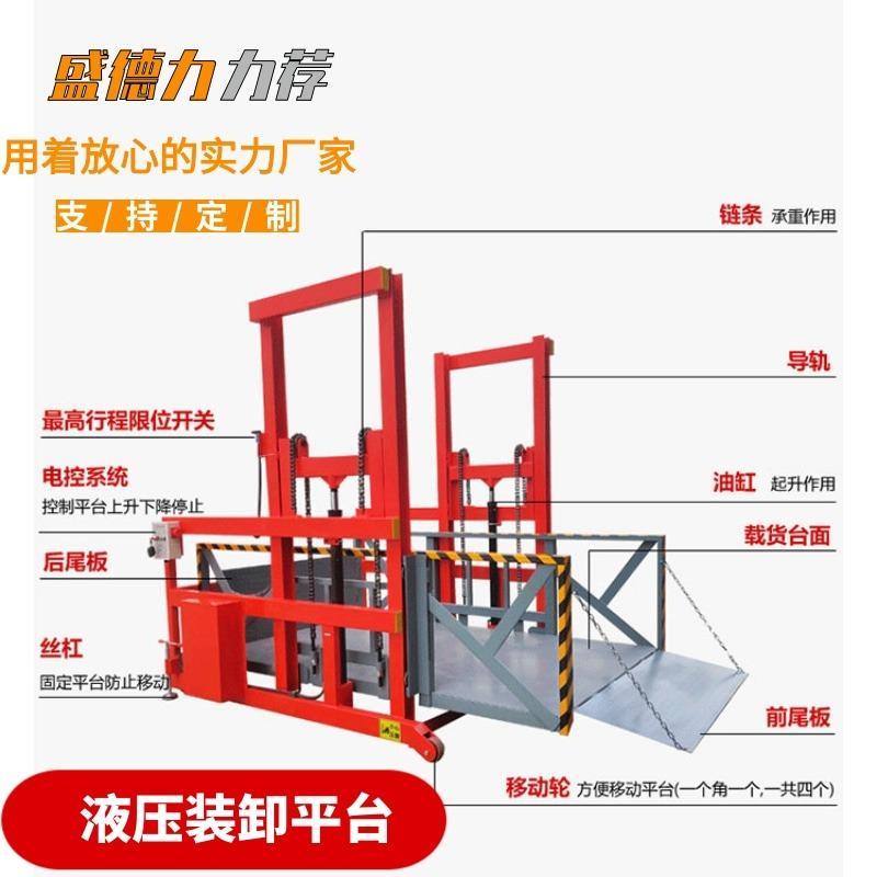 优质液压装卸货平台 可移动卸货平台 盛德力升降机直销