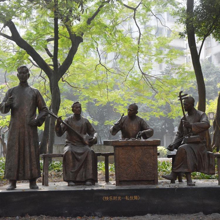 铸铜人物雕塑厂家 深化设计 专业雕塑定制-广州芒果艺术