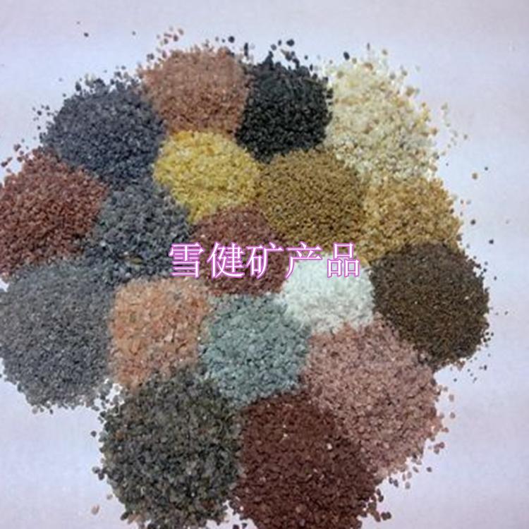 雪键彩砂厂家天然彩砂 染色彩砂 烧结砂 彩砂价格