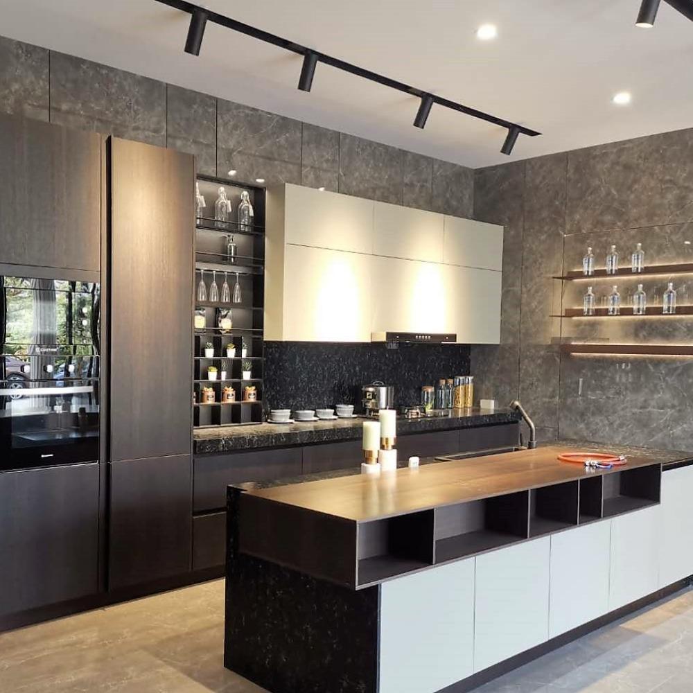 爱米家居 深圳现代风格全铝厨柜定做铝合金酒柜定制