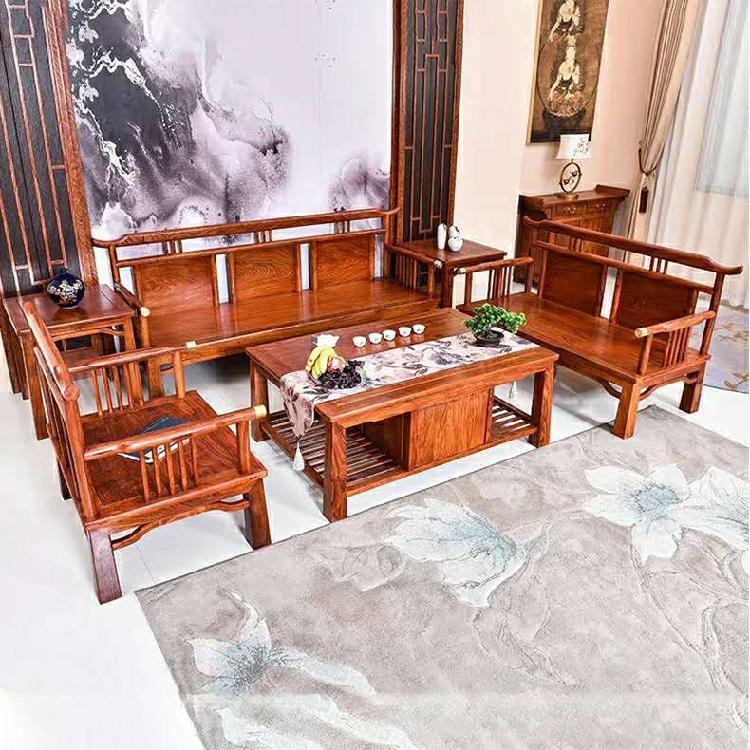 启航木业红木刺猬紫檀现代中式客厅家具