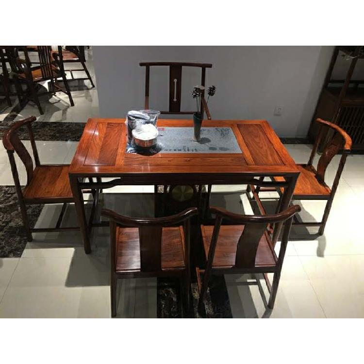 启航木业原木家具新中式客厅家具