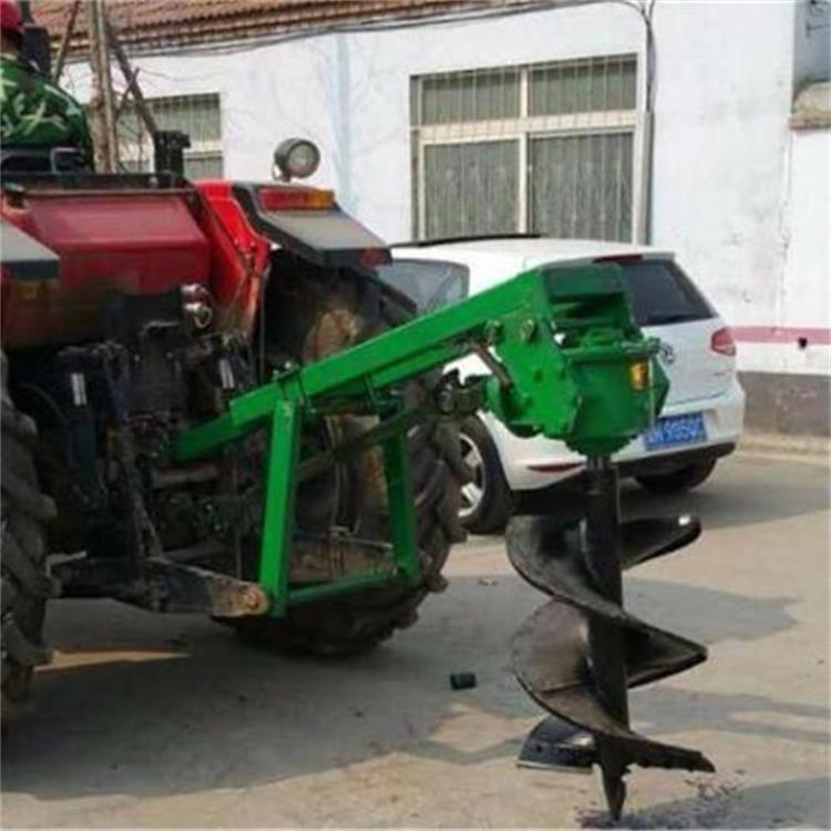 金齐鲁 大型车载式园林果园挖坑机 自走式植树打眼机 螺旋钻头挖坑机