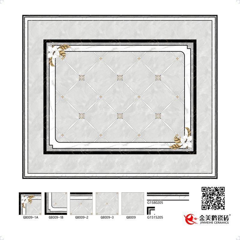 金美鹤陶瓷水刀拼花系列瓷砖-陶瓷十大品牌
