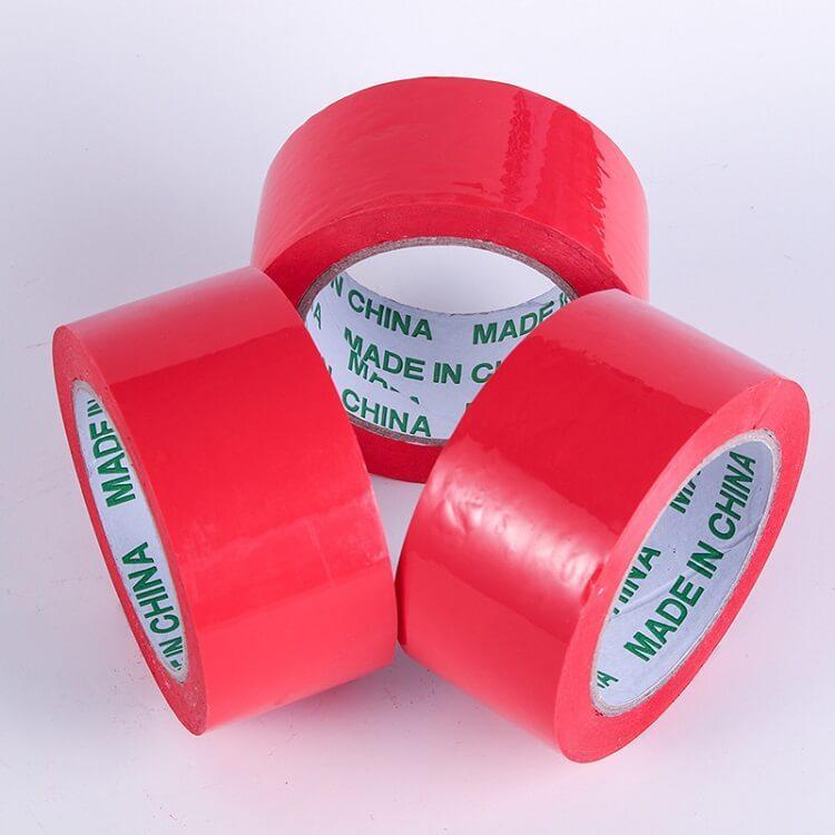 胶带快递包装红色封箱胶布电商打包胶带纸 封箱胶带厂家