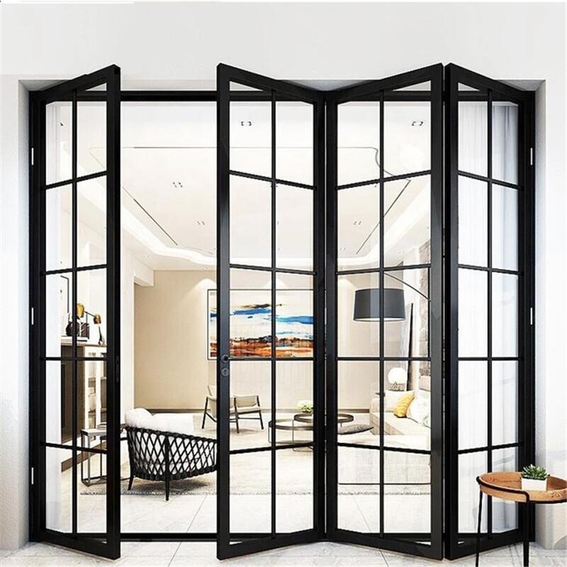 百色市重型大折叠门价格 折叠门厂家 封样阳台 大空间开启 金意享门窗
