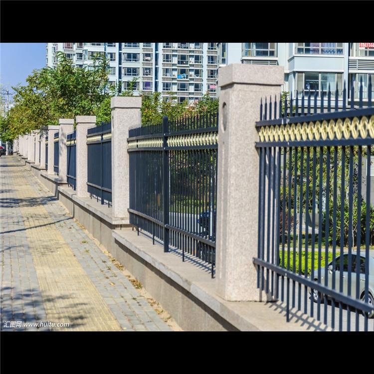 锌钢护栏园艺围栏宣城厂家现货 批发黑色围墙护栏