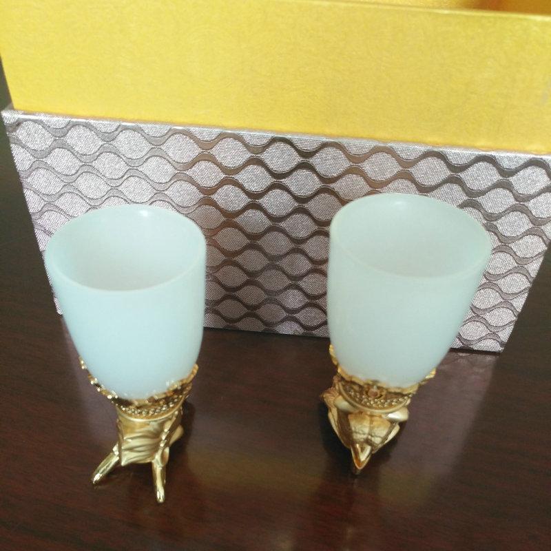 创意陶瓷龙凤玉酒杯 中式酒杯 家用茶杯 酒具 迷你烈酒马克杯