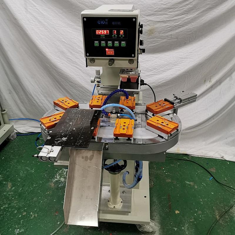 验孕盒移印机-骏晖机械-试剂盒双色移印机-一出二自动下料转盘移印机生产厂家