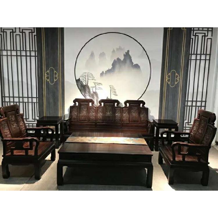福建福州红木客厅家具古韵餐桌茶桌衣柜