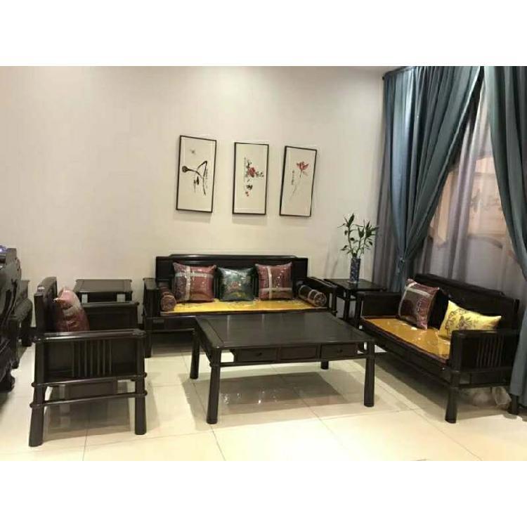 福建福州红木客厅家具禅意餐桌茶桌衣柜