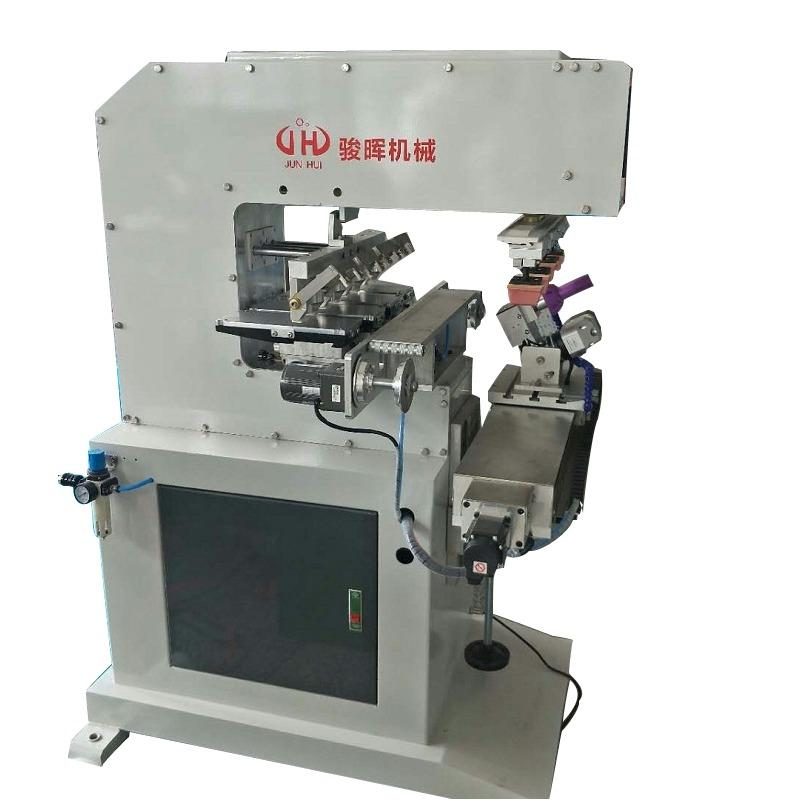 四色移印机-骏晖机械-旋转夹具伺服穿梭移印机