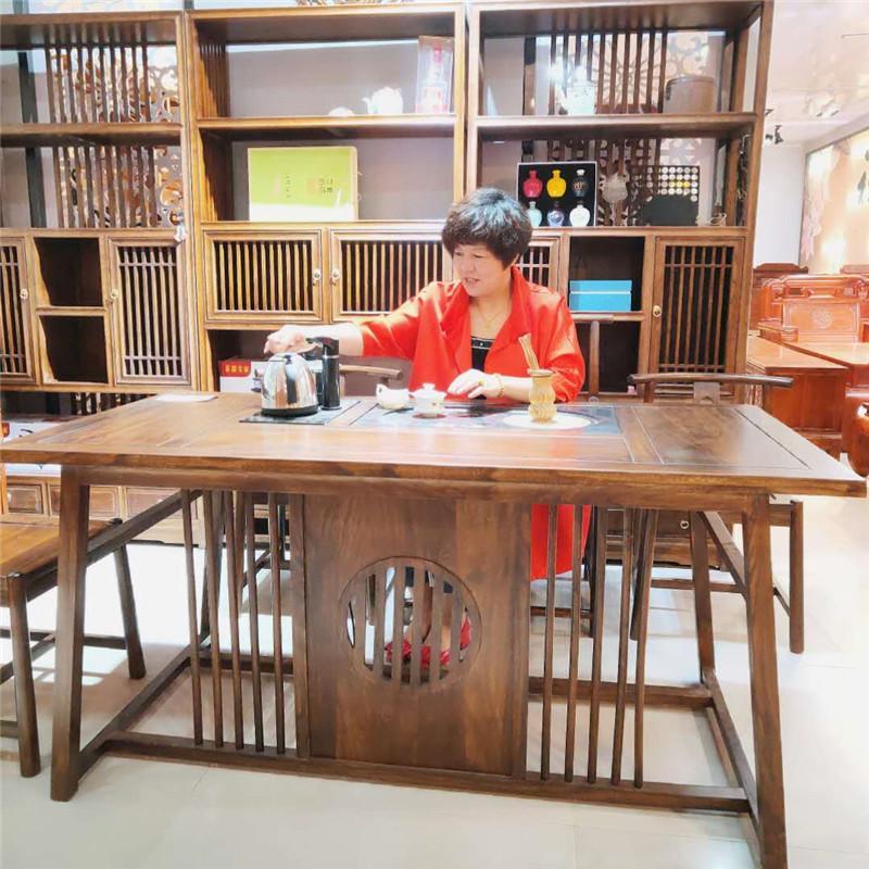 星拓 老榆木家具茶桌 新中式家具老榆木 厂家出售