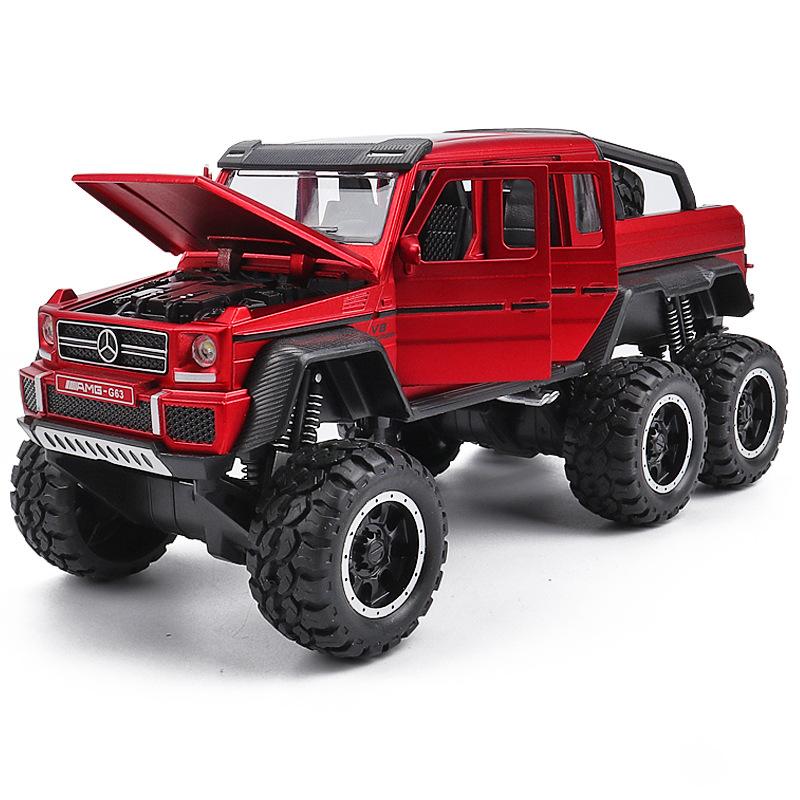 奔驰G63合金车模 越野车避震六轮开门汽车模型男孩礼物儿童玩具车