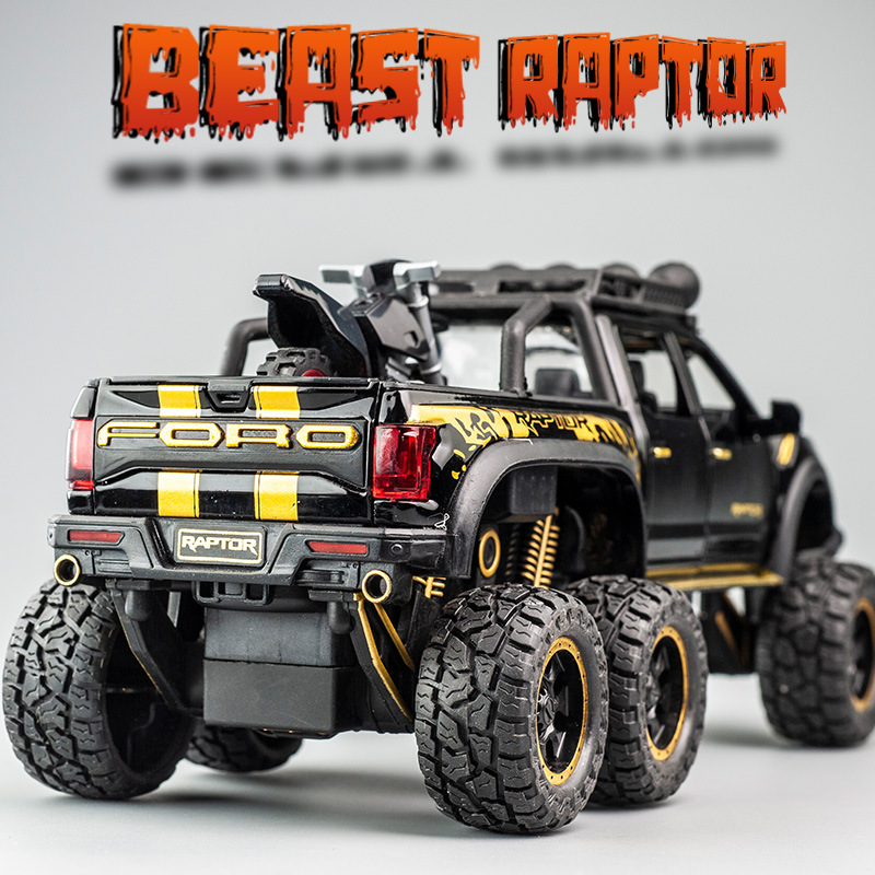 猛禽F150合金1-28仿真车模越野回力车儿童玩具汽车模型摆件速卖通