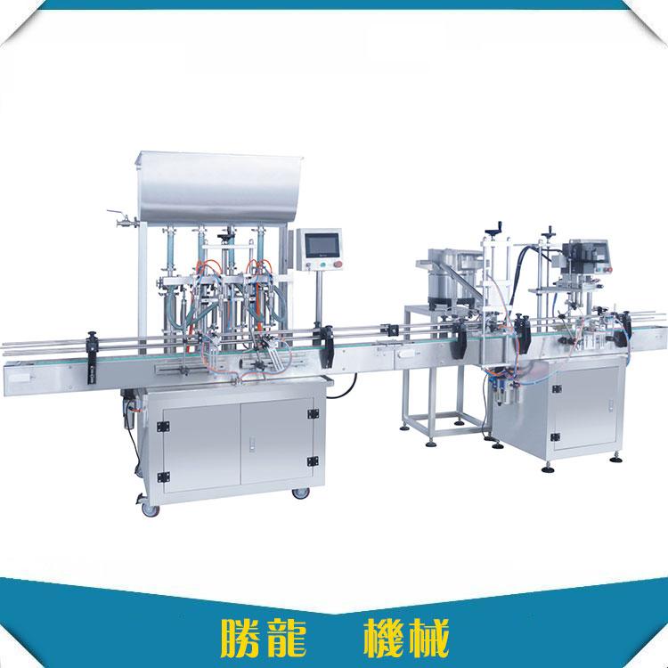 洗手液旋盖机-全自动洗手液灌装旋盖贴标机厂家直销-胜龙机械