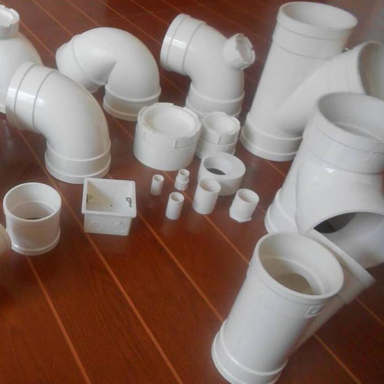 红泰PVC-U排水管件正三通 异径三通 弯头