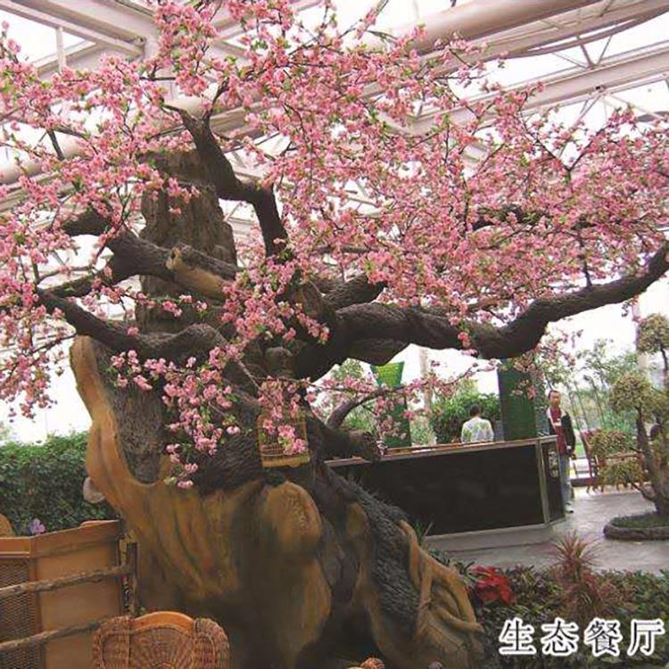 特色餐厅装饰 季常景观 生态餐厅仿真树