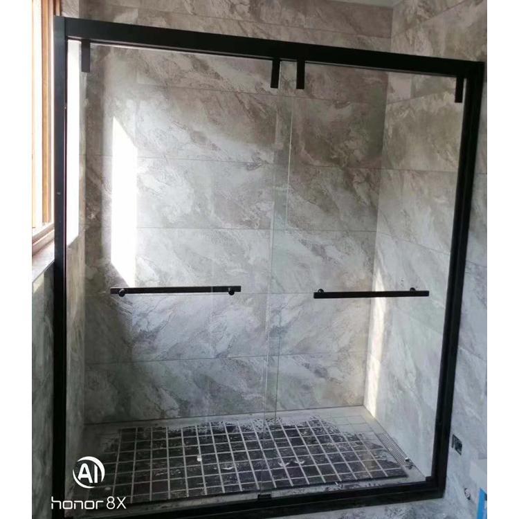 鸿源淋浴房 推拉式淋浴房安装 简易家用干湿分离