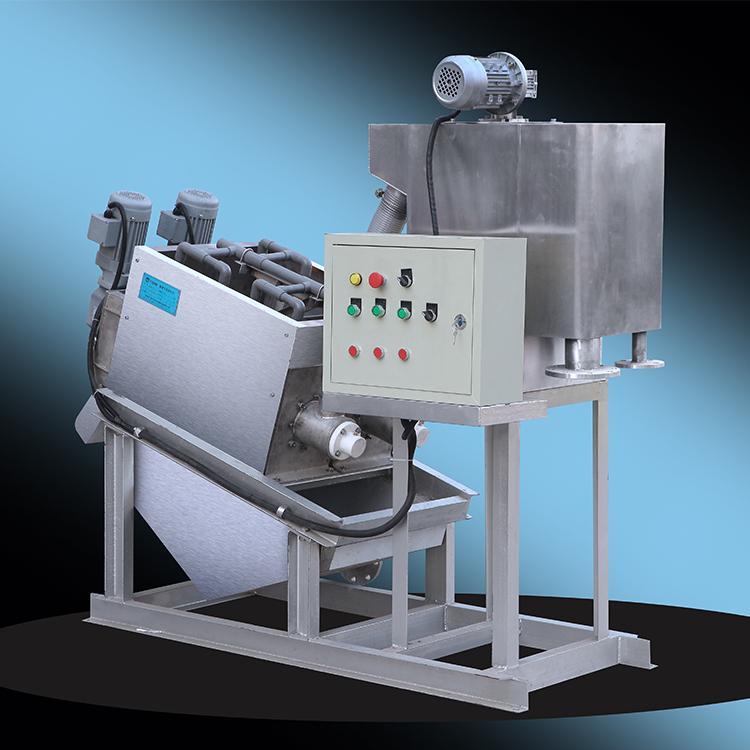202型全自动叠螺式污泥脱水机 食品厂叠螺污泥浓缩脱水机
