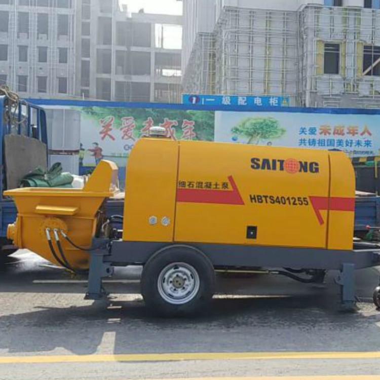赛通重工 小型细石混凝土输送泵 细石固定泵- 农村小型专用细石输送泵生产商
