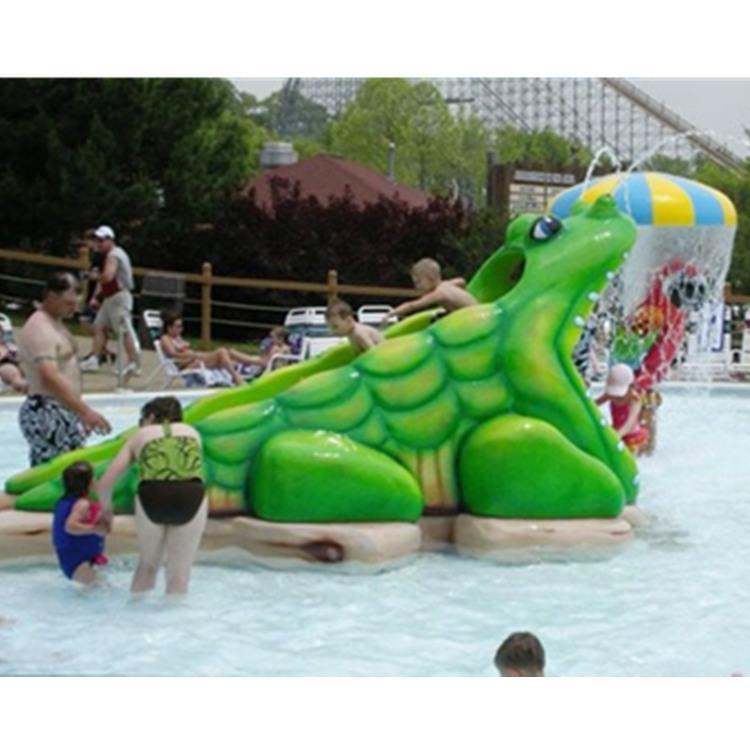 儿童水上乐园鳄鱼滑梯