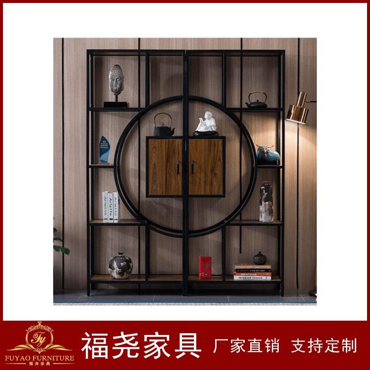 现代博古架 中式博古架 置物架厂家定制 福尧办公家具